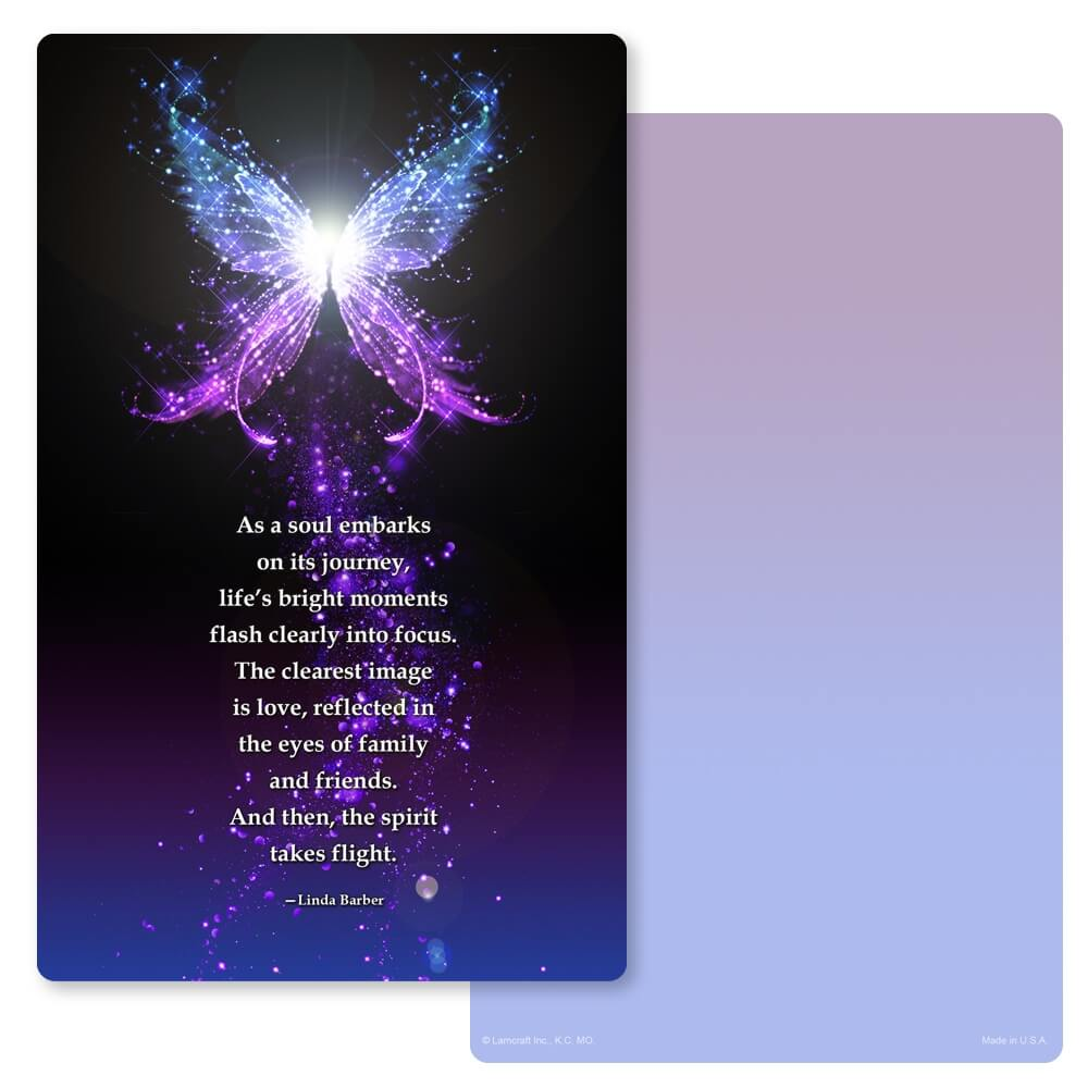 "5"" x 8"" Butterfly of Light Junior Album PMC, Soul's Journey"