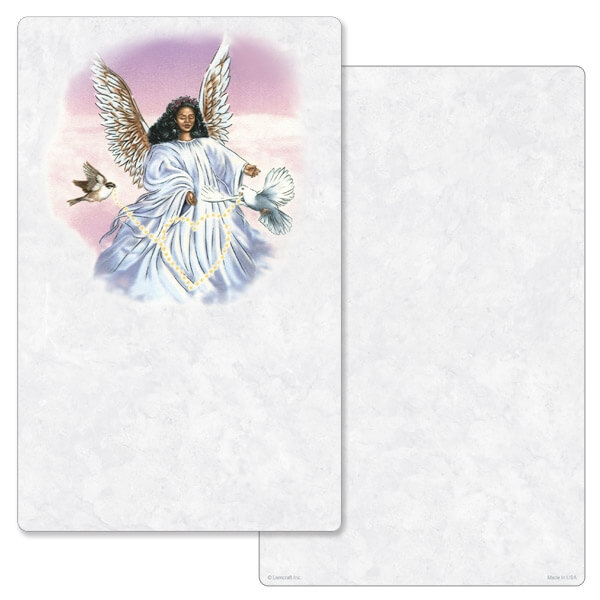 "5"" x 8"" Angel With Dove Junior Album PMC, No Verse"