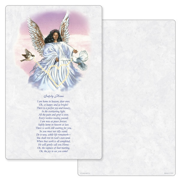"5"" x 8"" Angel With Dove Junior Album PMC, Safely Home"