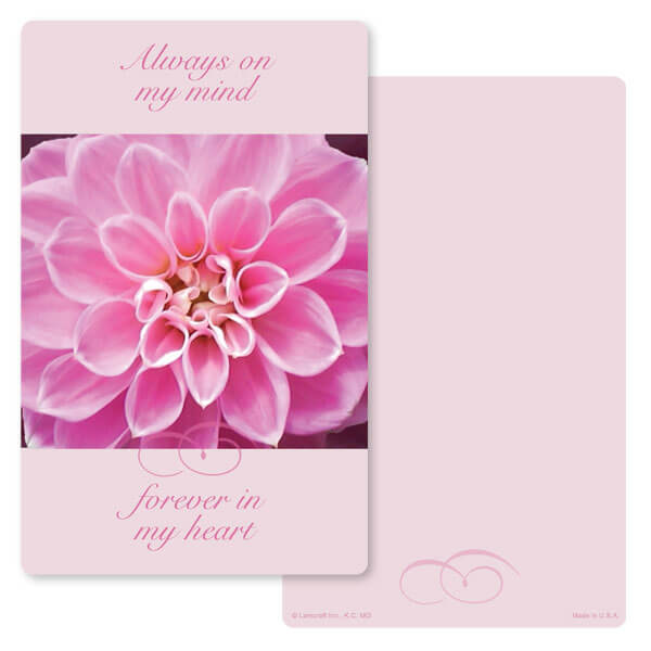 "5"" x 8"" Dahlia PMC Junior Album, Always On My Mind"