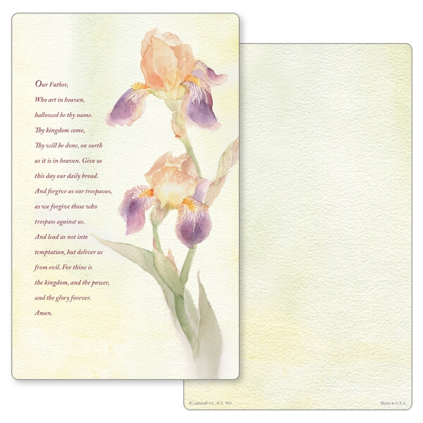 "5"" x 8"" Dutch Iris Junior Album PMC, The Lord's Prayer"