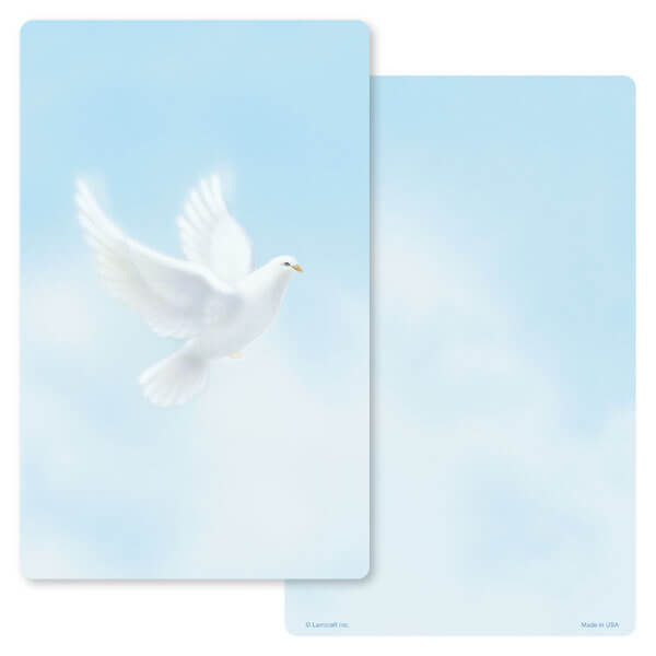 "5"" x 8"" Dove Junior Album Premium Memorial Card, No Verse"