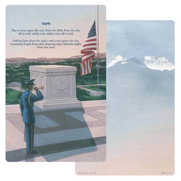 """5"""" x 8"""" Veteran's PMC Junior Album, Taps"""