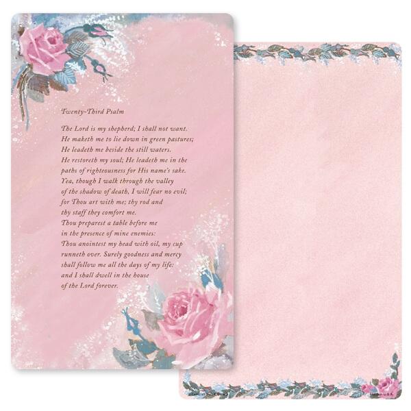 """5"""" x 8"""" Rose-Rose Color PMC Junior Album, 23rd Psalm"""