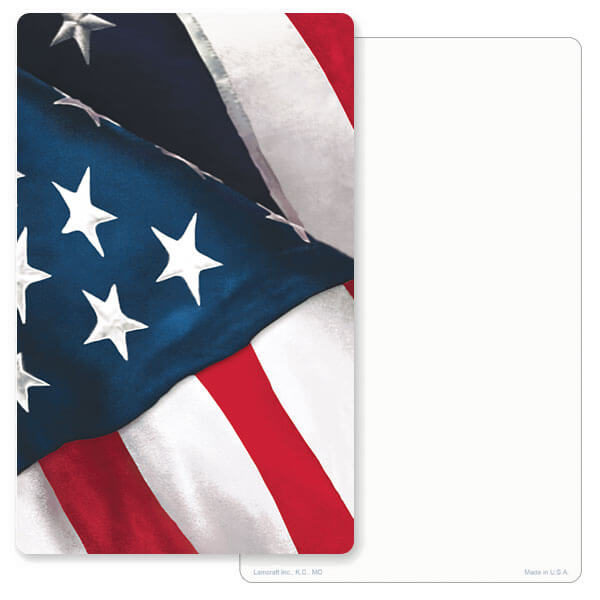 "5"" x 8"" U.S. Flag Junior Album PMC, No Verse"