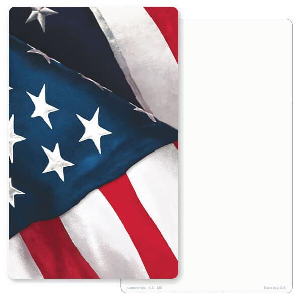 """5"""" x 8"""" U.S. Flag Junior Album PMC, No Verse"""