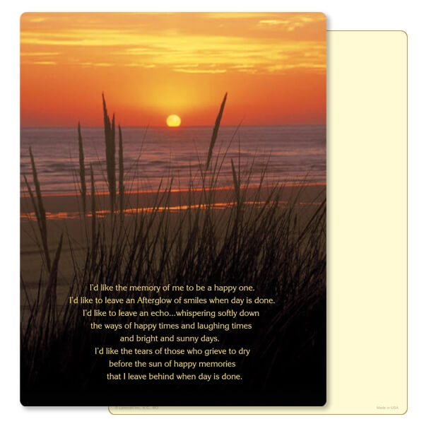 """8-3/4"""" x 11-1/4"""" Sea Oats PMC Letter, Afterglow"""