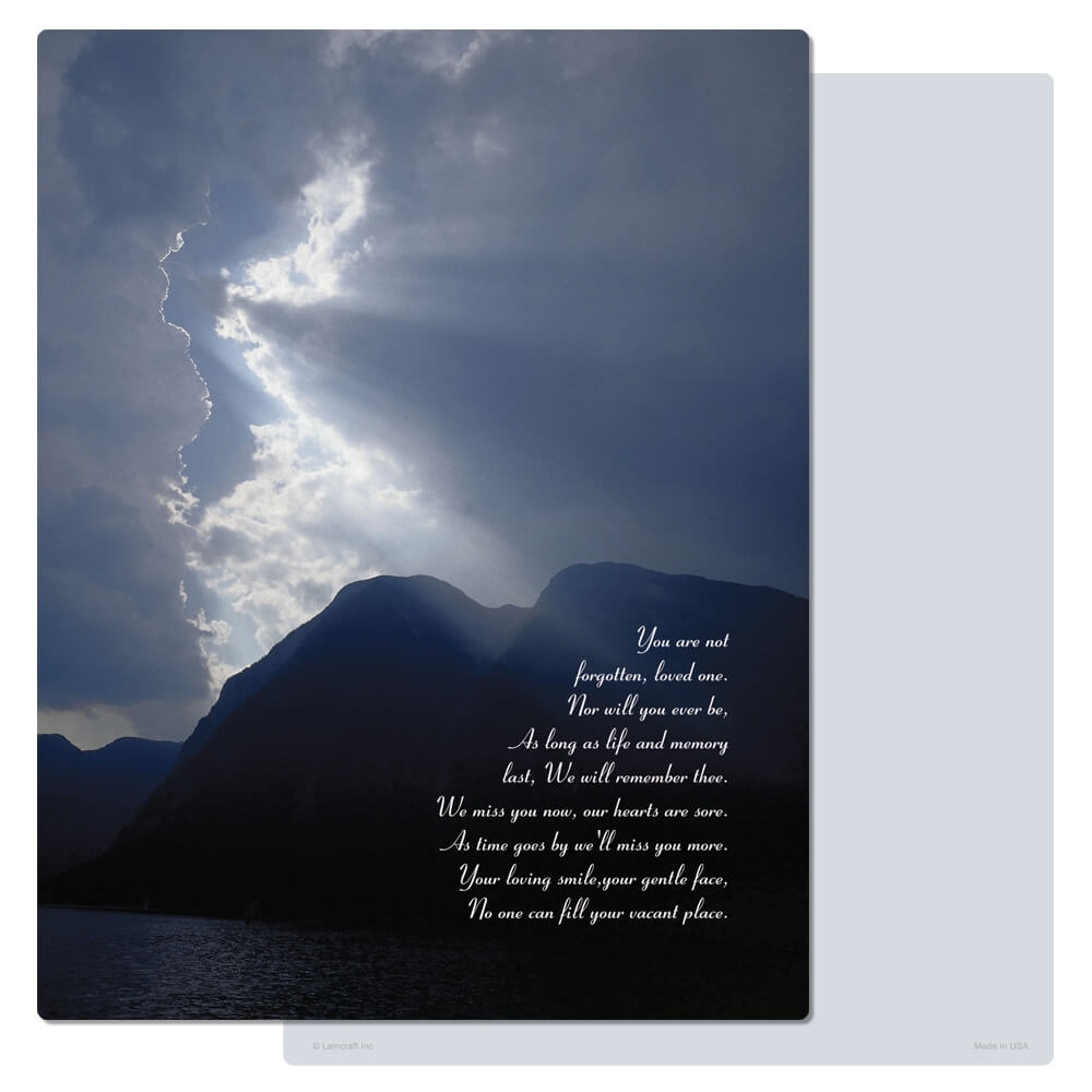 "8-3/4"" x 11-1/4"" Clouds & Sea PMC Letter, You Are Not Forgotten"