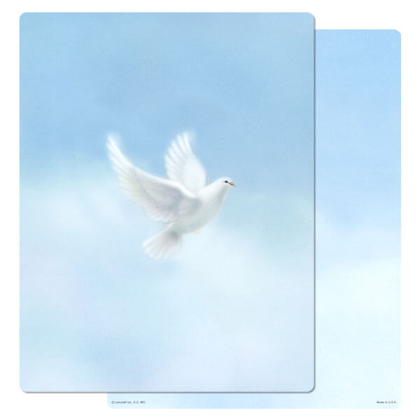 "8-3/4"" x 11-1/4"" Dove PMC Letter, No Verse"