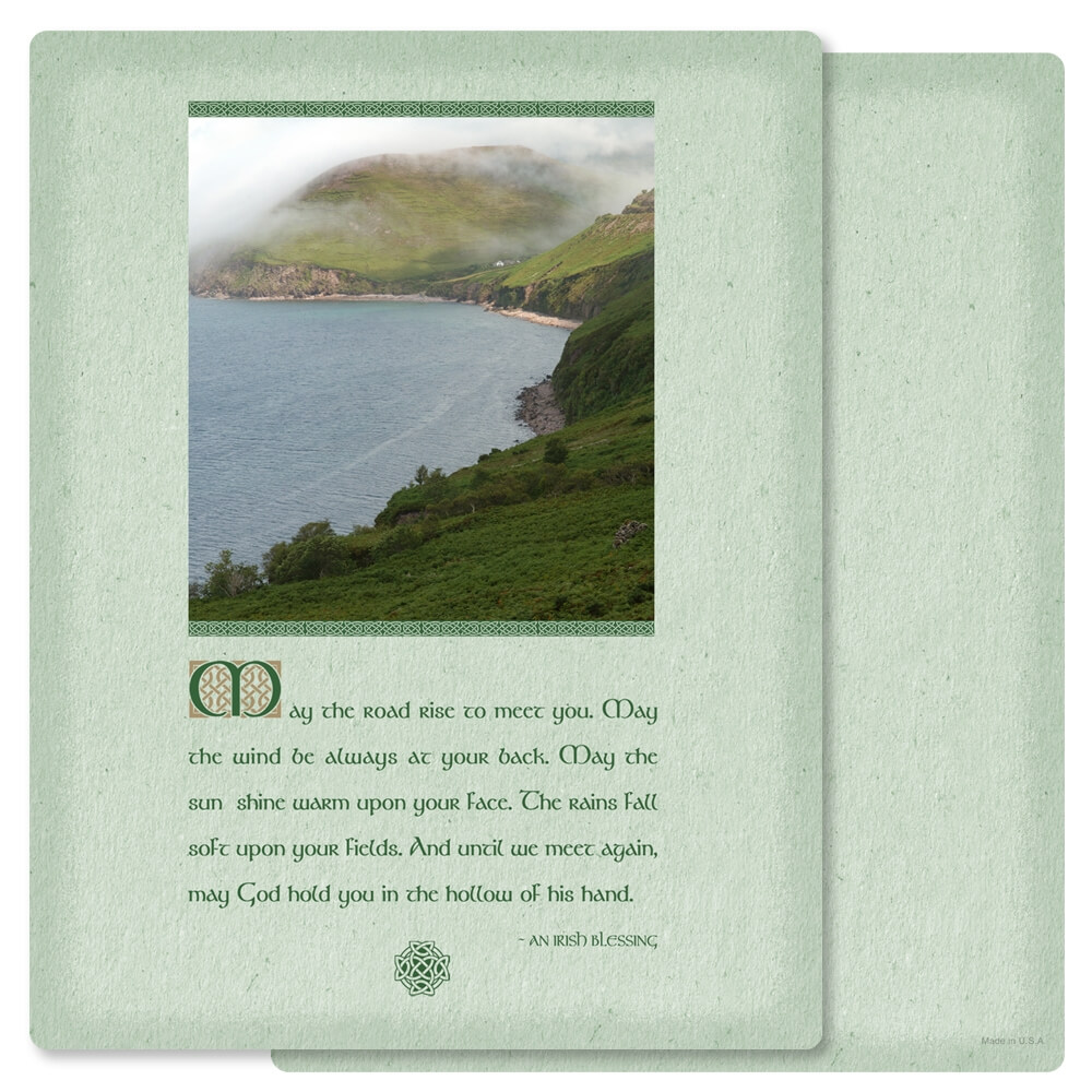"8-3/4"" x 11-1/4"" Irish Blessing PMC Letter, Irish Blessing verse"