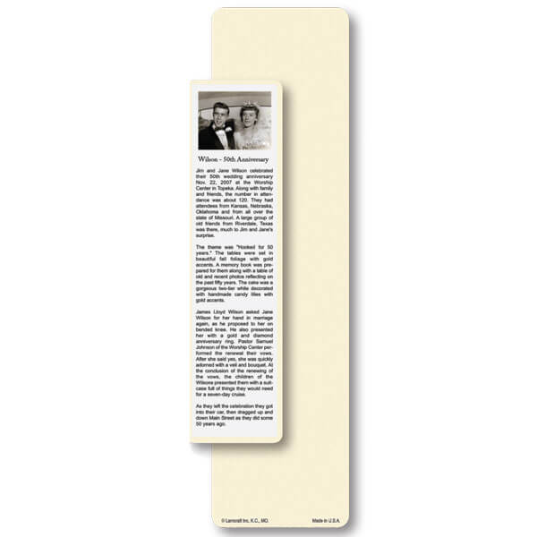 "3"" x 11"" Special Occasion Large Bookmark Pouch, Ivory"