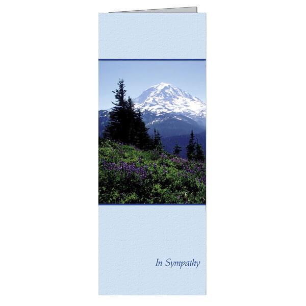 """4-3/4"""" x 11-1/8"""" Extra Large Nature's Majesty Presentation Card, White Envelope"""