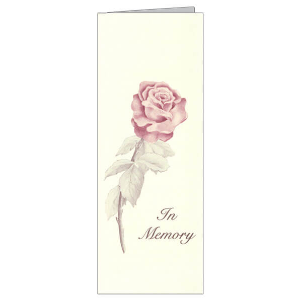 "4-3/4"" x 11-1/8"" Extra Large Rose Presentation Card, Soft White Envelope"