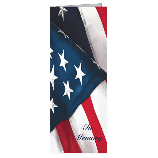 "4-3/4"" x 11-1/8"" Extra Large US Flag Presentation Card with White Envelope"