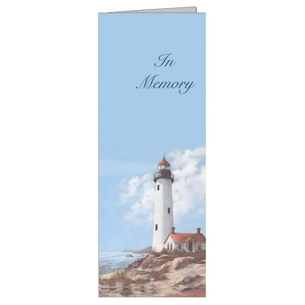 """4-3/4"""" x 11-1/8"""" Extra Large Lighthouse Presentation Card, White Envelope"""