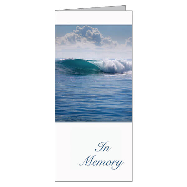 "4-1/8"" x 9-1/8"" Small Tranquil Ocean Presentation Card, White Envelope"