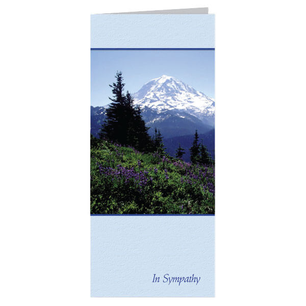 "4-1/8"" x 9-1/8"" Small Nature's Majesty Presentation Card, White Envelope"