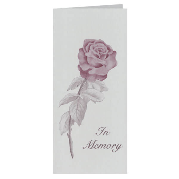 "4-1/8"" x 9-1/8"" Small Rose Presentation Card, Grey Envelope"