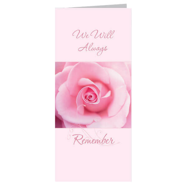 "4-1/8"" x 9-1/8"" Small Endless Presentation Card, White Envelope"