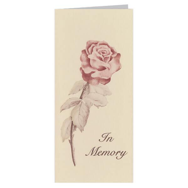 "4-1/8"" x 9-1/8"" Small Rose Presentation Card, Tan Envelope"