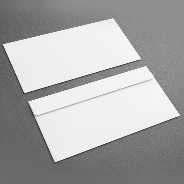 Small Presentation Card Envelope, White