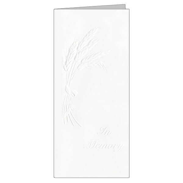 "4-1/8"" x 9-1/8"" Small Embossed Wheat Presentation Card, White Envelope"