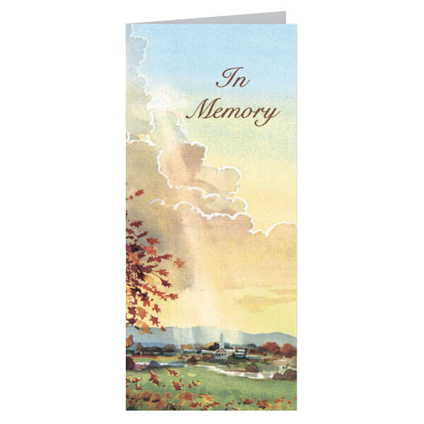 "4-1/8"" x 9-1/8"" Small Meadow Presentation Card, Soft White Envelope"