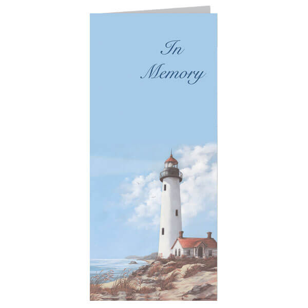"4-1/8"" x 9-1/8"" Small Lighthouse Presentation Card, White Envelope"