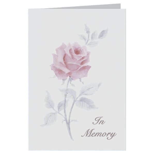 "6-1/4"" x 9-1/4"" Large Rose Presentation Card, Grey Envelope"