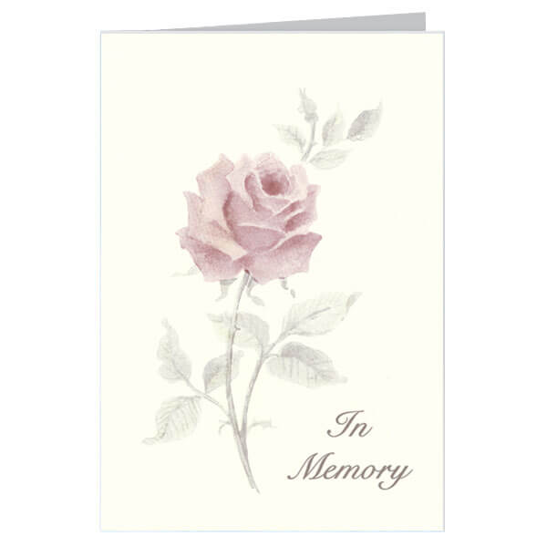 "6-1/4"" x 9-1/4"" Large Rose Presentation Card, Soft White Envelope"