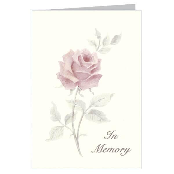 "6-1/4"" x 9-1/4"" Large Rose Presentation Card, Soft White Envelope"