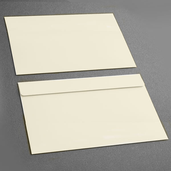 Large Presentation Card Envelope, Soft White