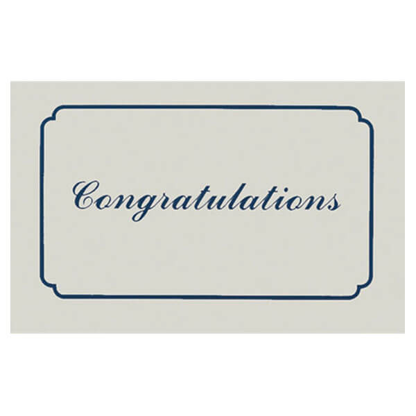 "8"" x 5"" Small Congratulations Card with Matching Envelope"