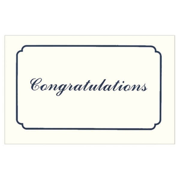 "9-1/4"" x 6-1/4"" Large Congratulations Card with Matching Envelope"