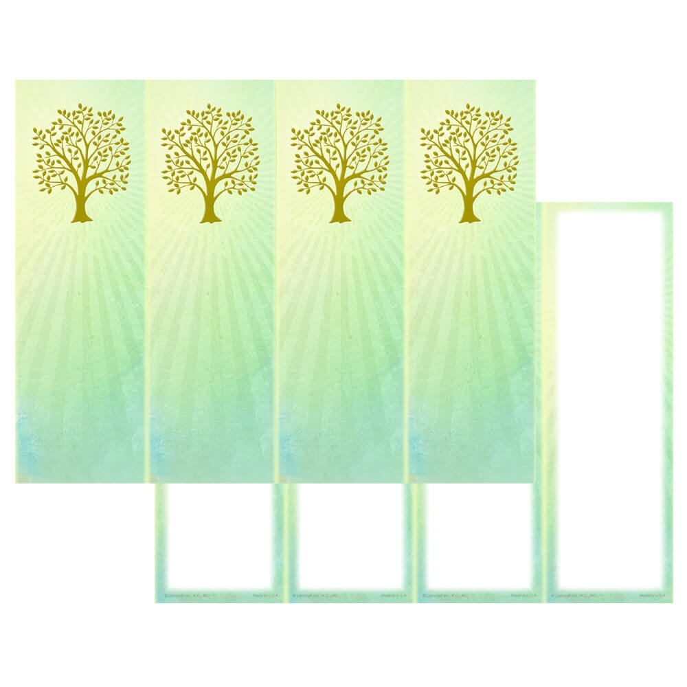4-up Radiant Tree of Life Micro-Perf Bookmark, No Verse