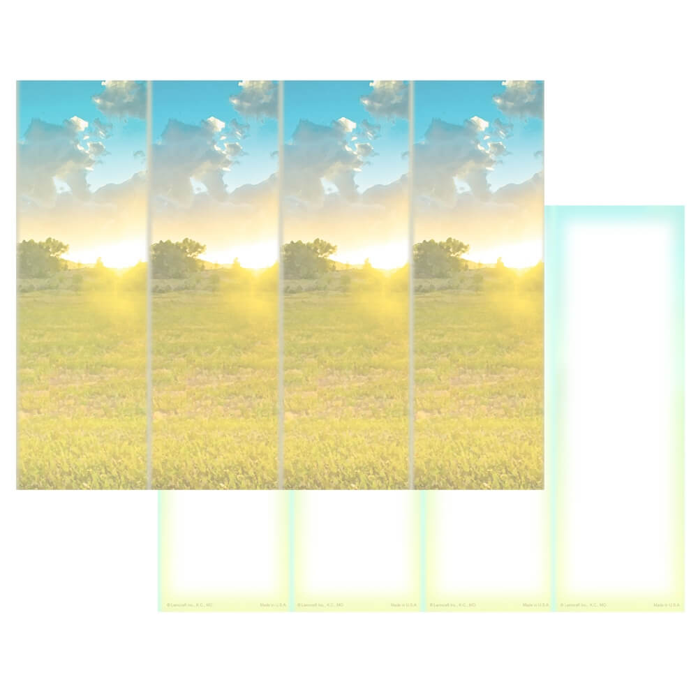 4-up Summer Field Micro-Perfs, No Verse