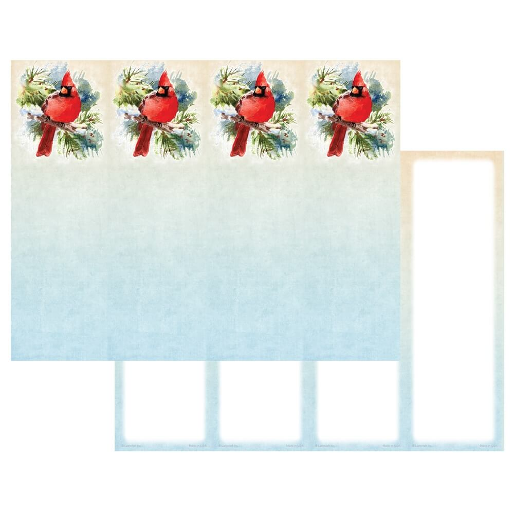 4-up Cardinal in the Pines Micro-Perf Bookmark, No Verse