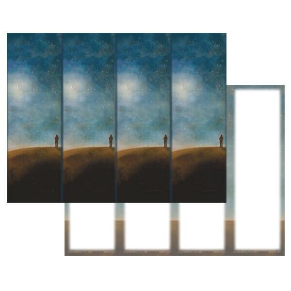 4-up Night Sky Micro-Perf Bookmark, No Verse