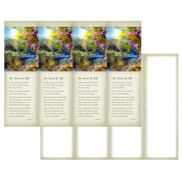 4-up New Day Micro-Perf Bookmark, The Song of Life