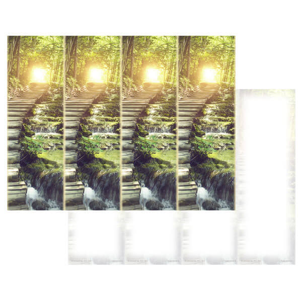 4-up Stairs of Light Micro-Perf Bookmark, No Verse