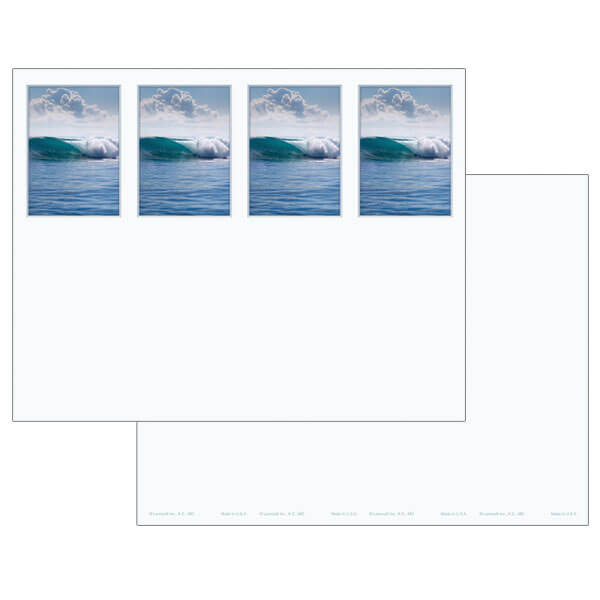 4-up Tranquil Ocean Micro-Perf Bookmark, No Verse