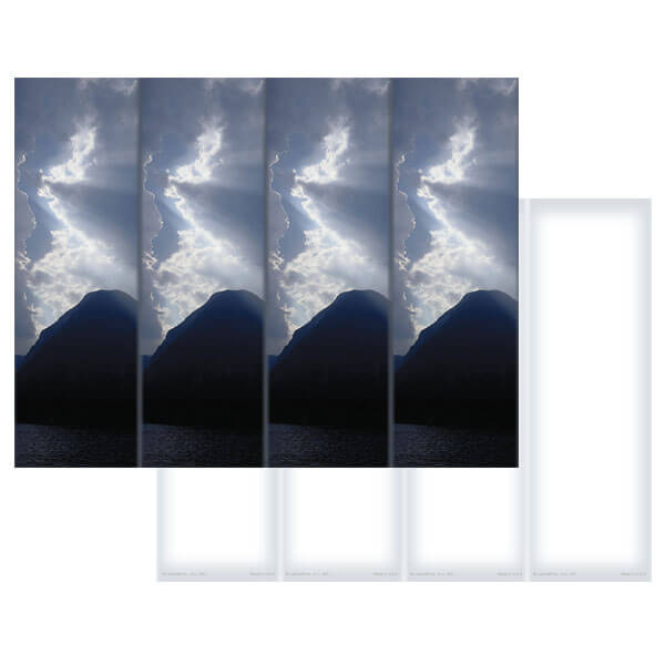 4-up Clouds & Sea Micro-Perf Bookmark, No Verse
