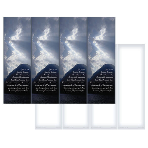 4-up Clouds & Sea Micro-Perf Bookmark, You Are Not Forgotten