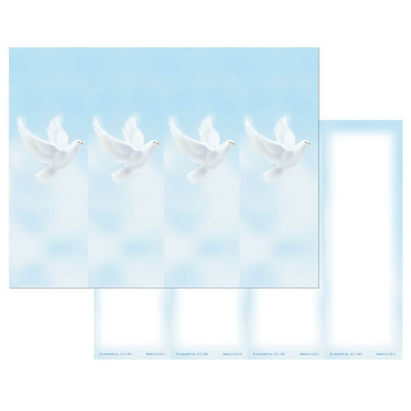 4-up Dove Micro-Perf Bookmark, No Verse
