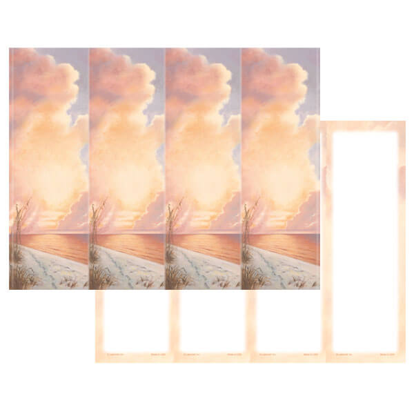 4-up Footprints Micro-Perf Bookmark, No Verse