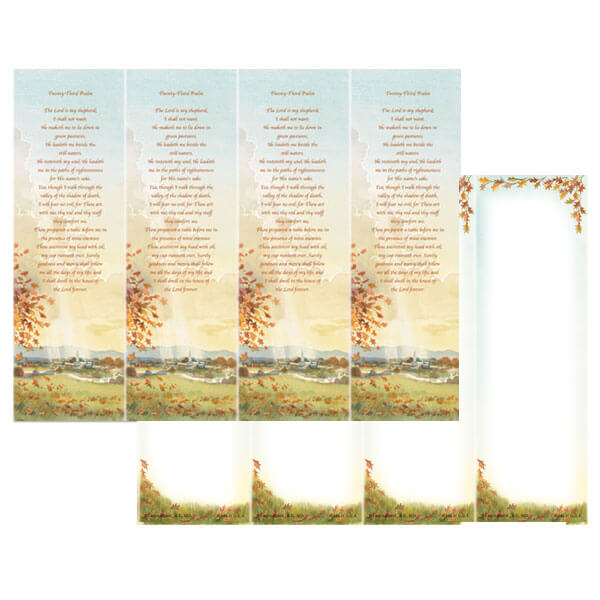 4-up Meadow Micro-Perf Bookmark, 23rd Psalm
