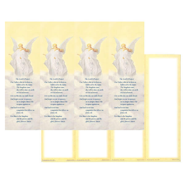 4-up Guardian Angel Micro-Perf Bookmark, The Lord's Prayer