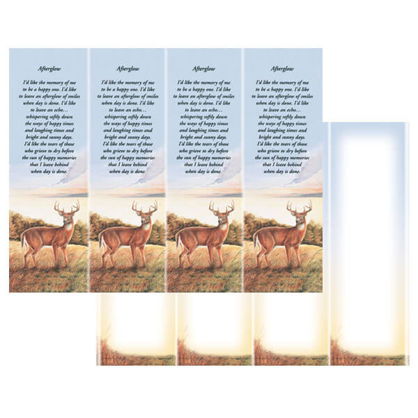 4-up Deer Micro-Perf Bookmark, Afterglow