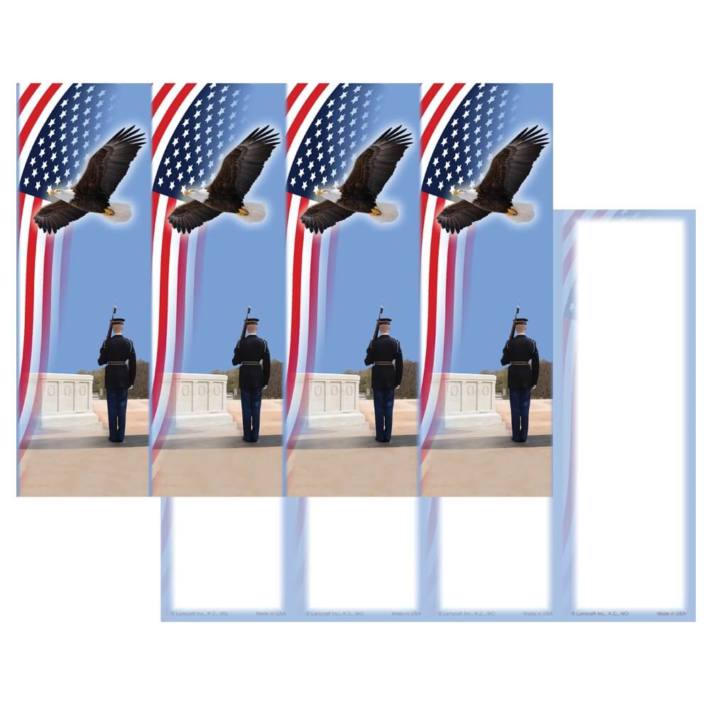 4-up Honor Guard Micro-Perf Bookmark, No Verse