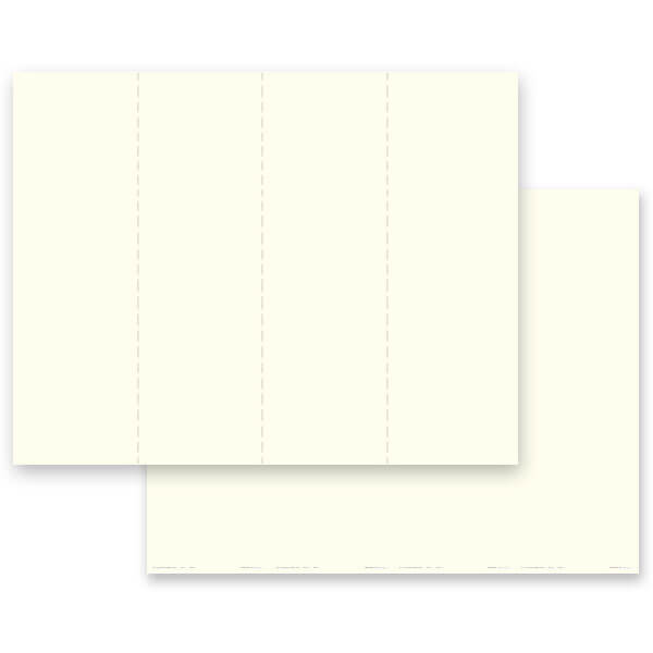 4-up Ivory, Plain Stock Micro-Perf Bookmark, No Verse